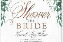 Bridal Shower Invitations / Our favorite personalized bridal shower invites from top custom printing sites like Wedding Paper Divas featuring champagne, wedding dresses & gowns, floral, etc.