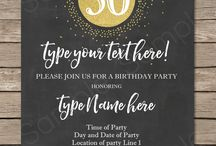 Milestone Birthday Party Invitations & Printables - 30th, 40th, 50th, 60th / Editable & Printable Templates for Milestone Birthdays - 30th, 40th, 50th, 60th