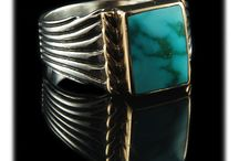 Silver and Gold Turquoise Jewelry / The combination of Sterling Silver and Gold is absolutely beautiful. John Hartman and all of us at Durango Silver love to produce exquisite Jewelry using the finest quality Turquoise that we cut from our 40+ year collection set in unique Silver and Gold designed Jewelry.