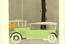 drawings of old cars / Old car drawings.