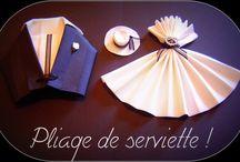 serviettes noel