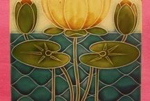 Antique tiles / Art Nouveau, Art Deco and Pilkington tiles plus some modern reproductions