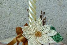 Mikulás virág / Gyertyatartónak is felhasználtam