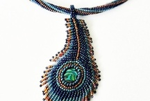 Beaded brooche, medallion, pendant