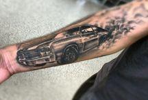 car themed tattoo