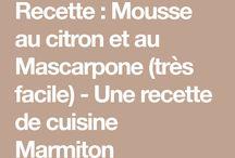 mousse citron et mascarpone