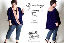 2015 - Sunday Loose Top / Swing Top which specially designed for sophisticated curvy women originally made by Indonesian Designer & Local Brand: Ella Es Bonita.