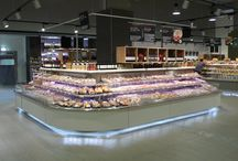 Retail supermarket interior