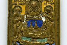 икона бронзовая эмаль