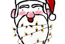 My winter/Christmas digital drawings 2016
