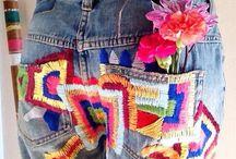 идеи,джинсы,вышивка