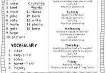Classroom homework ideas