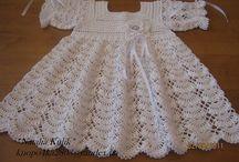 vestido de trico para bebe