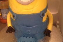 First minion cake 2014 hand made by me / birthday