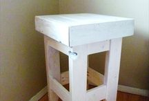 Pallet Stool / DIY pallet stool and pallet bar stools
