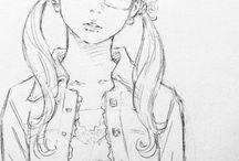 Girl Shorthair / glasses