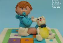 Cake Battesimo Bambino / www.torteamorefantasia.com