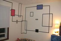 Duct & washi tape : wall art