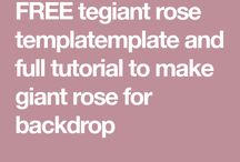giant rose template