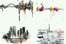 watercolor places