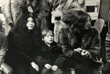 John and Julian Lennon Yoko Ono.. Brian Jones and Donyale Luna ♥
