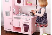 Tea For Two / Ideas for a little girl's kitchen/tea party room!