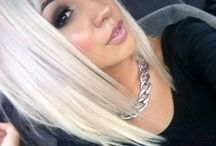 Makeup for platinum hair