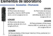 MONTAJE / Portafolio de elementos y suministros para laboratorio, montaje;  mecheros, aros de sujeciòn, pinzas, tripodes, churruscos para limpieza, gradillas, espatulas, cucharas, pipeteadores, nueces, soportes, tapones