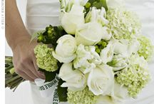 white and green wedding