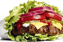Referências fotográficas / Referências de fotos sobre fast-food para a aula de fotografia.