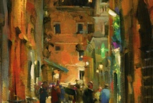 Streetscape Oil Paintings / Need fresh or inspiration ideas? Here are some streetscape oil paintings on canvas that we love. Share or pin if you like.