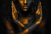 black, gold, silver, metallic