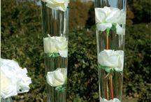 glazen met bloem