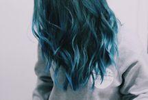 Blått hår inspirasjon