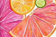 Fruits - Water Colour