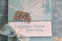 Ornamental pine Christmas cards