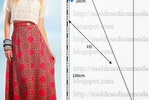 Sewing patterns long skirts