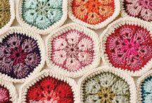 Motivos Grannys para mantas, almohadones y mas