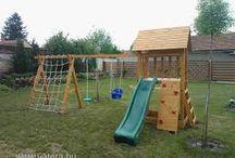kerti játszótér ötletek