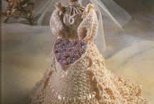 barbie sposa crochet