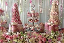 Floral Pink Dessert Table