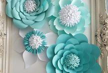 Großen Papierblumen