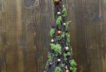 Risuista tehty koriste joulu