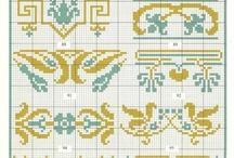 cross stitch double colour 2
