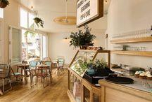 Cafeterías con muebles reciclados - Cafes with recycled furniture