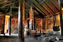 Viking Buildings Woodwork Threecarvings