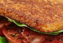 Bacon lettuce and tomato sandwiches
