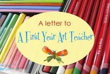 C- art TEACHER / classroom set-up--teacher's curriculum organization --back to school night--end of year art show--teacher art clothes--