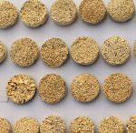 12mm Natural Golden Color Coated Round Druzy Loose Gemstone
