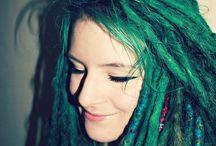 Green dreadlocks